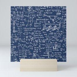 Physics Equations // Navy Mini Art Print