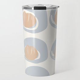 Dusty Blue Grey Terracotta Pattern Travel Mug