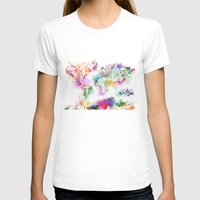 map of the world T-shirts featuring world map by Bekim ART