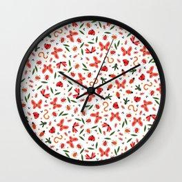 Seamless Buggy Pattern Wall Clock
