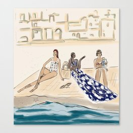 Beach Day in Latin Style Canvas Print