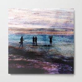 Evening at the beach Metal Print