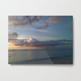 Beautiful Bajan Beach Metal Print