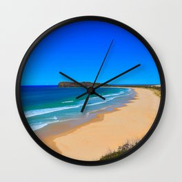 Blue Beach Wall Clock