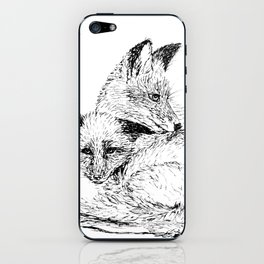 Foxes napping iPhone Skin