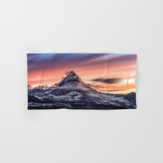 Mountains #fog #smoke Hand & Bath Towel
