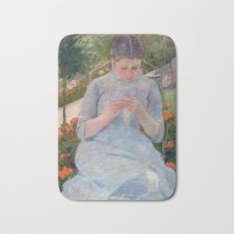 Mary Cassatt - Girl in the Garden Bath Mat
