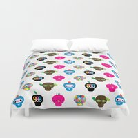 ufo Duvet Covers featuring Ufo by Plushedelica