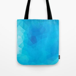 """Out of the blue"" geometric design Tote Bag"