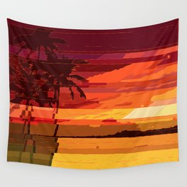 Tropical Glitchset Wall Tapestry