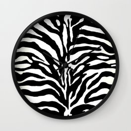 Wild Animal Print, Zebra in Black and White Wall Clock