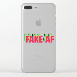 FAKE AF Clear iPhone Case
