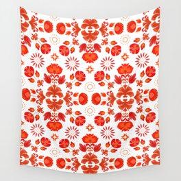 Fiesta Folk Red #society6 #folk Wall Tapestry