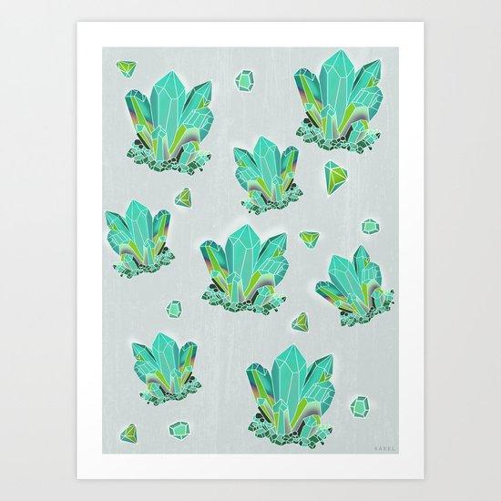 Emeralds Art Print