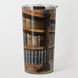 Knowledge - Antique Books on History & Law Travel Mug