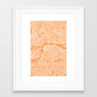 london map Framed Art Prints featuring London Map by chiams