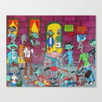 hey arnold Canvas Prints featuring Hey Arnold Zombie by tonitiger415