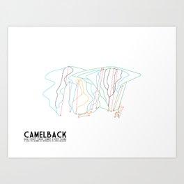 CAMELBACK, PA - MINIMALIST TRAIL MAP Art Print