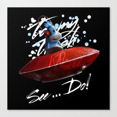 Kal the Monkey - See...Do! Canvas Print