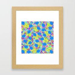 Hawaiian Blue Flowers Framed Art Print