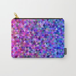 Pink and blue triangles Carry-All Pouch