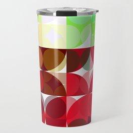 Mixed color Poinsettias 3 Abstract Circles 3 Travel Mug