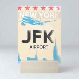 JFK stylish airport code Mini Art Print