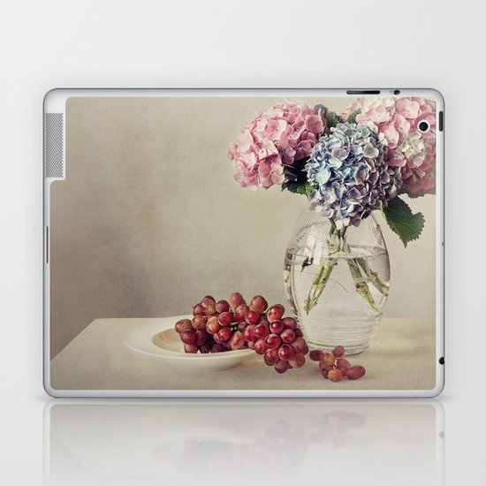 Still life with hydrangea Laptop & iPad Skin