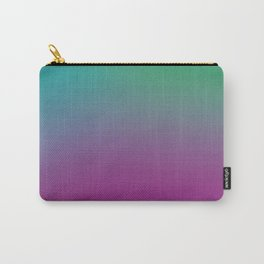 Purple-Green-Turquoise Gradient Pattern Carry-All Pouch