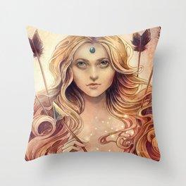 Zodiac Stagittarius Throw Pillow