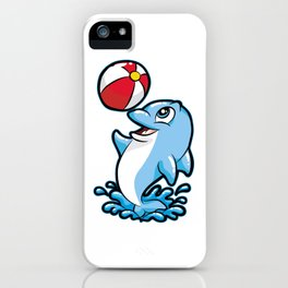 HAPPY DOLPHIN Water Ball Gift Present Son Daughter iPhone Case