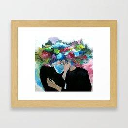 Love explosion Framed Art Print