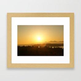 Hansville, WA- Sunset Framed Art Print