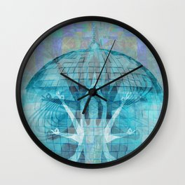 Blue Kali Goddess Visionary Wall Clock