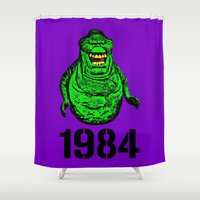 "1984 Shower Curtains featuring ""Mourning My Youth"" Series  