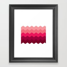 Chevron Pink Framed Art Print