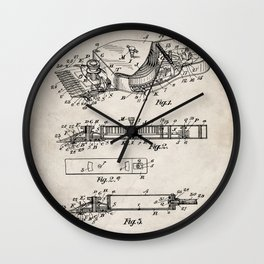 Barber Hair Clippers Patent - Barber Shop Art - Antique Wall Clock