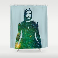 battlestar Shower Curtains featuring Starbuck Battlestar Galactica by pennyprintables