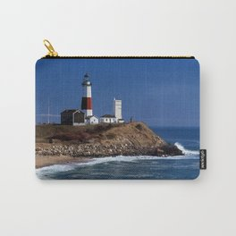 Crispy Morning at Montauk Point Lighthouse Long Island New York Carry-All Pouch