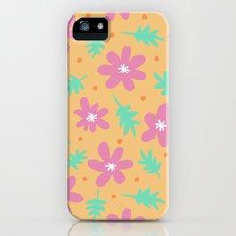 Beach floral iPhone Case