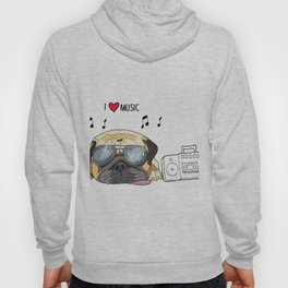 I love music-rock pug Hoody