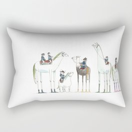 Numero 1-2-3-4-5-6 -Cosi che cavalcano Cose - Things that ride Things- SERIE ARGENTO - SILVER SERIES Rectangular Pillow