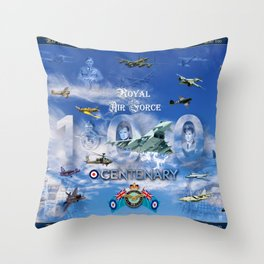 FUSION OF FLIGHT Throw Pillow