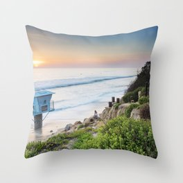 Pipes Beach Throw Pillow