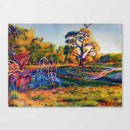 Paddle steamer Bones Canvas Print