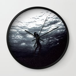 Space Mermaid Wall Clock