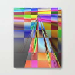 highway to rectangular city Metal Print