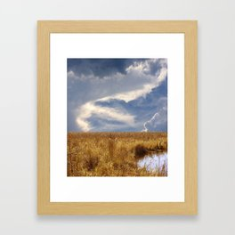 landscape 002: golden slumbers, big sky Framed Art Print