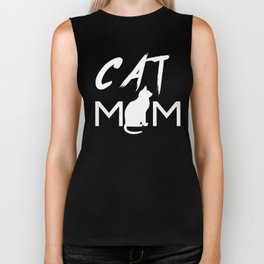 CAT MOM Funny Shirt Cat T-Shirt Tee Mama Cat Kitten Lover T-shirt Tee Top Women Biker Tank