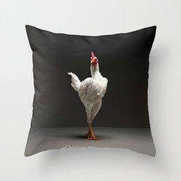 Chic!ken - Modern English Game Fowl Throw Pillow